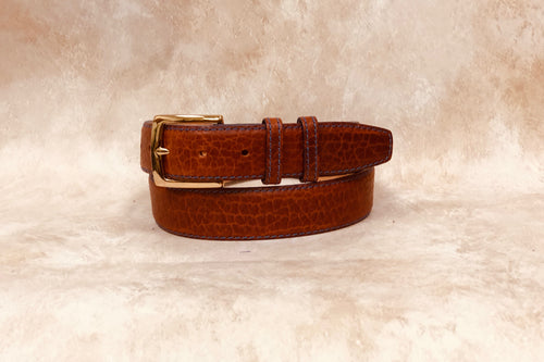 American Bison, Cognac with Stitching 1 3/8