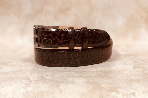 Alligator Belt, Brown 1 3/8