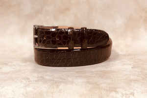 Alligator Belt, Brown 1 3/8""