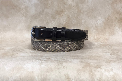Rattlesnake Skin with Black Calf Billets 1 1/4