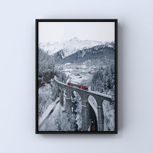 The little red train of the MontBlanc
