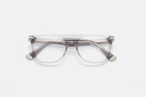 Flat Top - Trans Black Crystal Italian Acetate