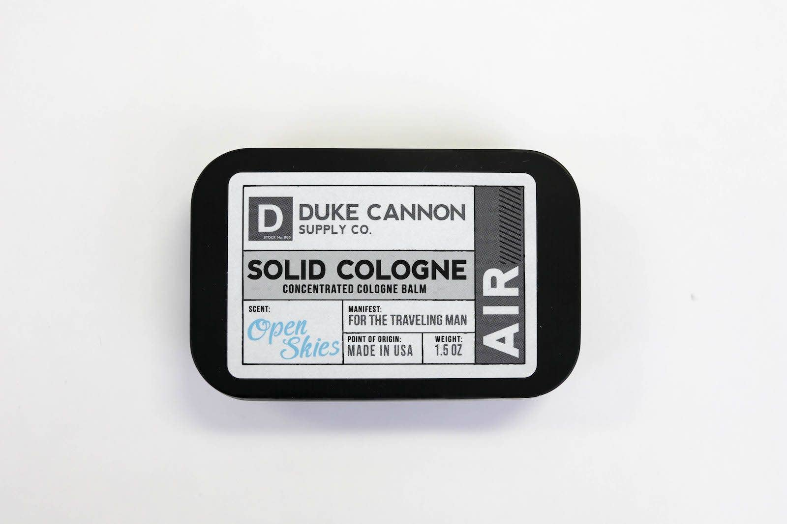 Duke Cannon - Solid Cologne - Air - The Sock Dudes