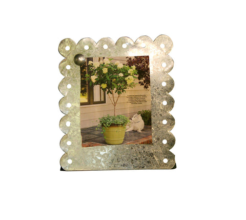 Vertical Galvanized Magnetic Picture Frame