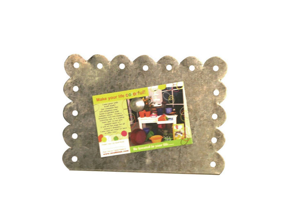 Horizontal Galvanized Magnetic Picture Frame