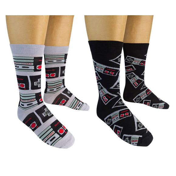 Funatic Socks - NINTENDO Socks (2-pk) - The Sock Dudes