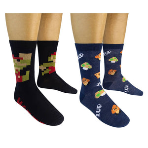 Funatic Socks - SUPER MARIO Socks (2-pk) - The Sock Dudes