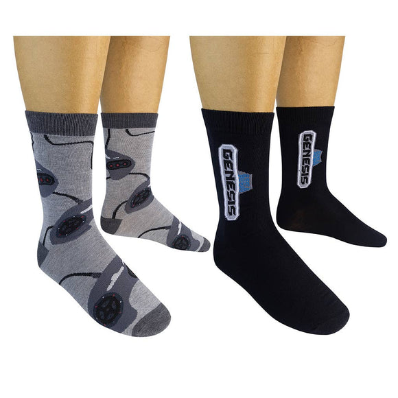 Funatic Socks - SEGA GENESIS Socks (2-pk) - The Sock Dudes