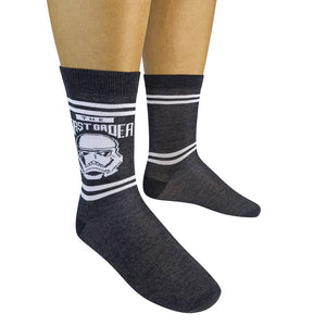Funatic Socks - STAR WARS EP 9 THE FIRST ORDER Socks (1-pair) - The Sock Dudes