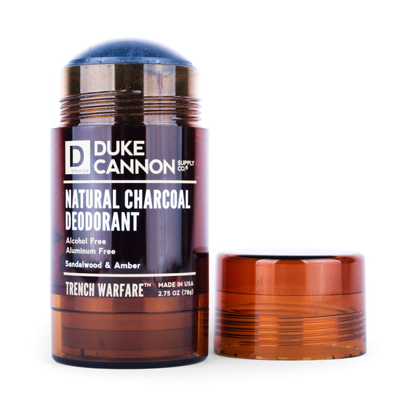 Duke Cannon - TRENCH WARFARE NATURAL CHARCOAL DEO (SANDALWOOD & AMBER) - The Sock Dudes