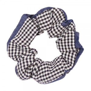 Checkered Jean Scrunchy - The Sock Dudes