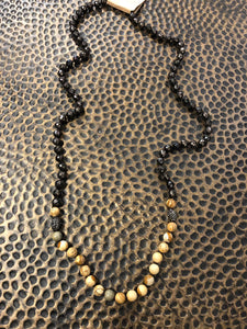 Pave Ball and Stone Necklace - The Sock Dudes