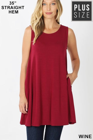 Doorbuster-Do This My Way Curvy Sleeveless Tunic