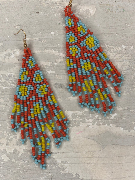 Bead Triangle Earrings - The Sock Dudes