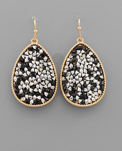 Crystal Pave Teardrop Earrings - The Sock Dudes