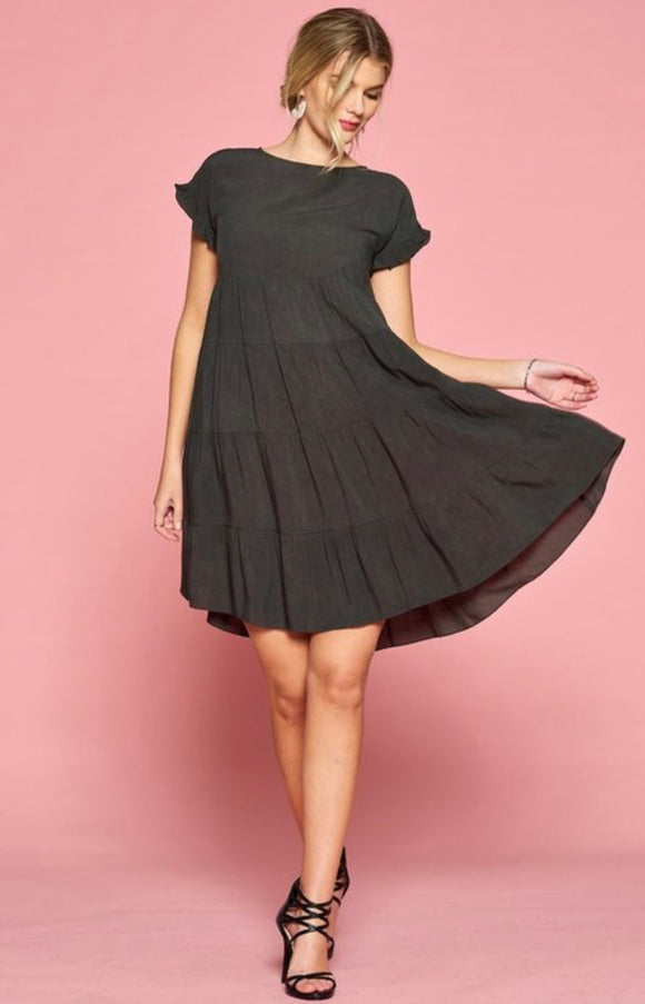 Ruffled Short Sleeve Dress - The Sock Dudes