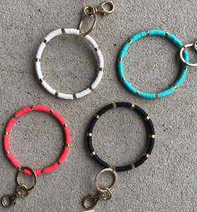Rubber Bead Key Chains