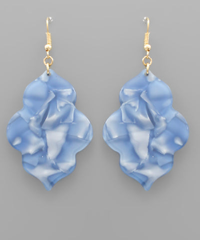 Acrylic Arabesque Earrings - The Sock Dudes