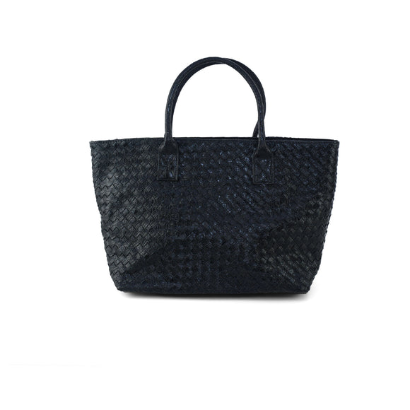Textured Faux Leather Tote - The Sock Dudes