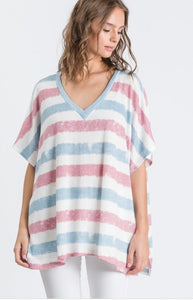 Stripe Short Sleeve Top - The Sock Dudes