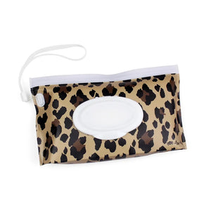 Itzy Ritzy Leopard Take and Travel Pouch Reusable Wipes Case
