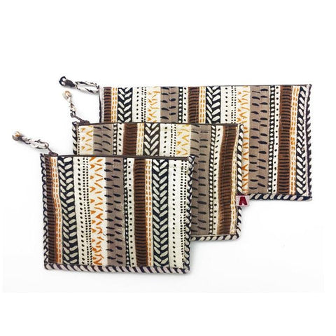 Desert Tracks Set of 3 Pouches