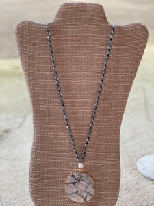 Disc Stone Necklace