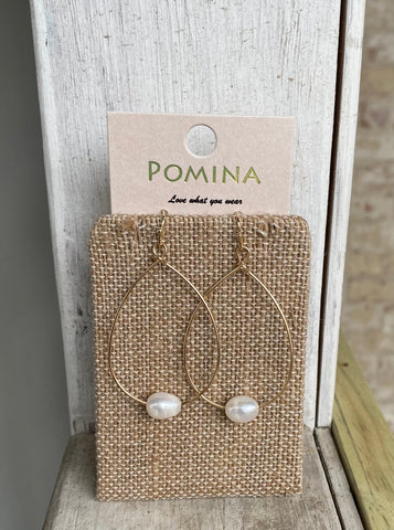 Pearl Charm Teardrop Earrings