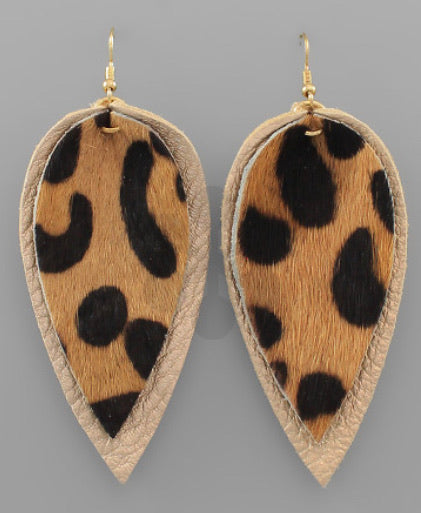 Layered Leaf Earrings - The Sock Dudes