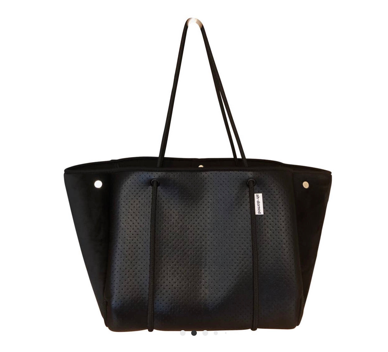 Neoprene Tote Bag with Velour Sides