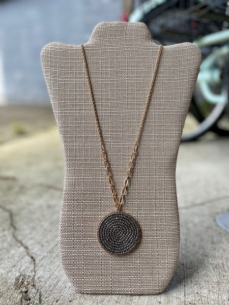 Beaded Disc Necklace