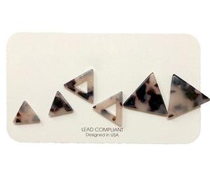 Acrylic Triangle Earrings Set