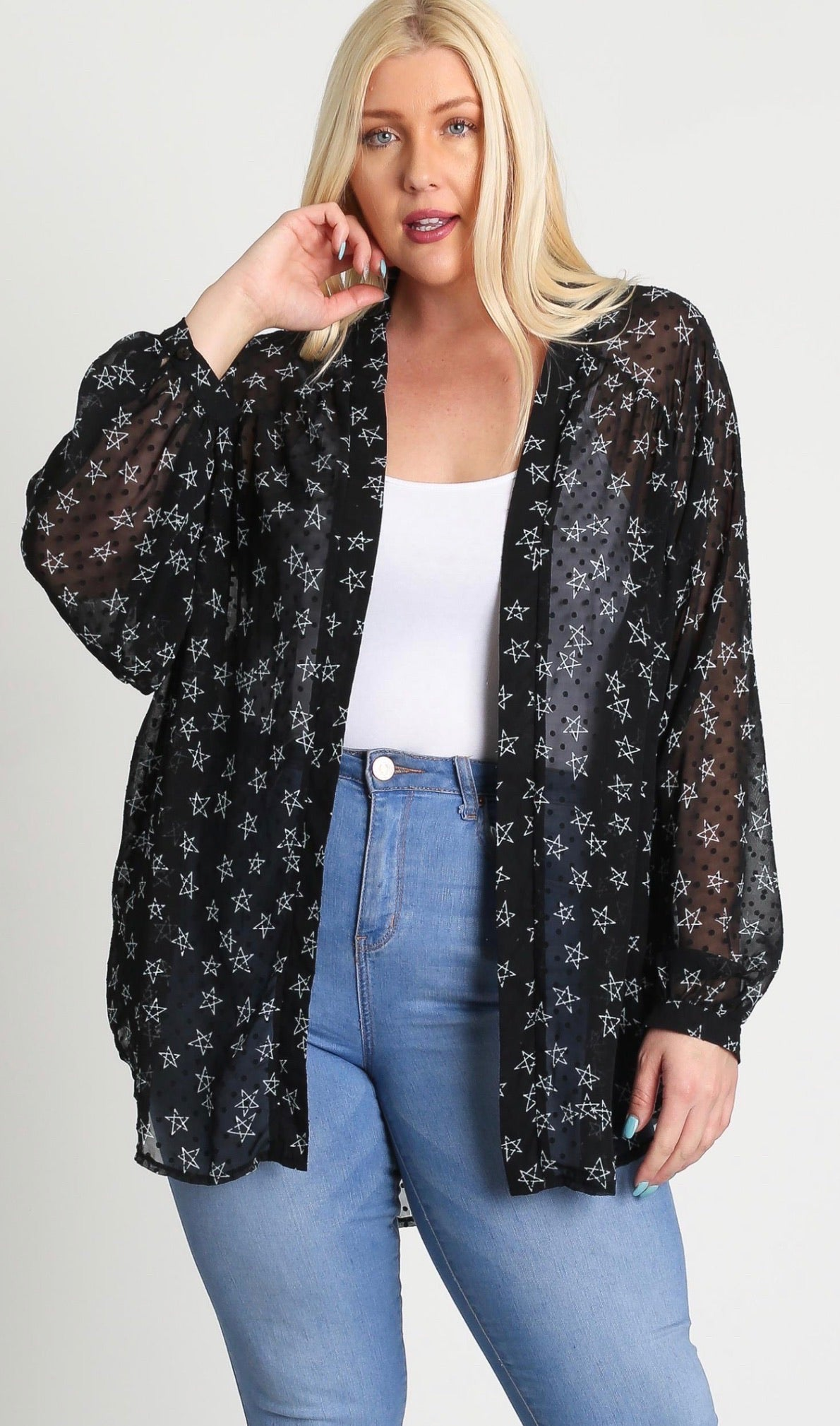 Into The Night Curvy Cardi