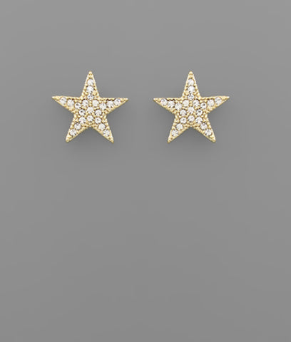 Crystal Pave Star Earrings - The Sock Dudes