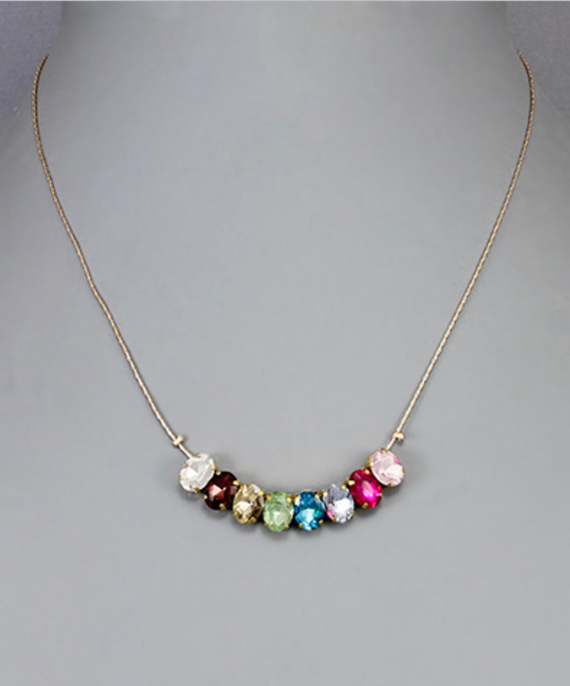 Necklace with Oval Sparkles - The Sock Dudes
