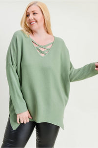 Take On Me Curvy Sweater