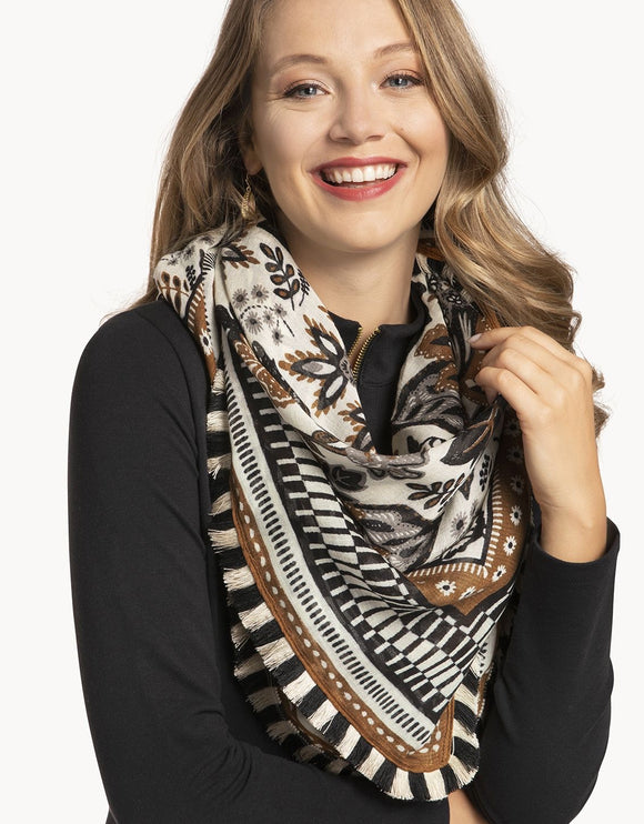 West Bluff Floral Square Scarf