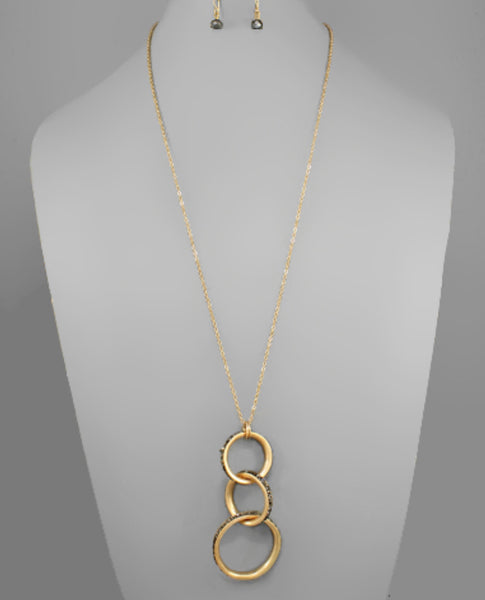 Linked Circle Necklace with Beads - The Sock Dudes
