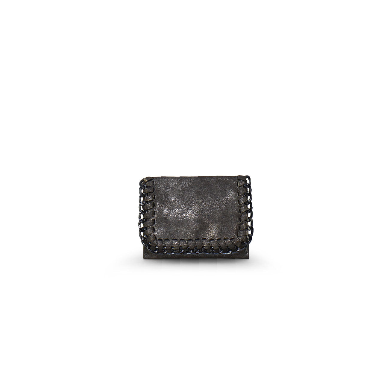 Leather and Chain Card Holder Wallet - The Sock Dudes