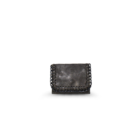 Leather and Chain Card Holder Wallet