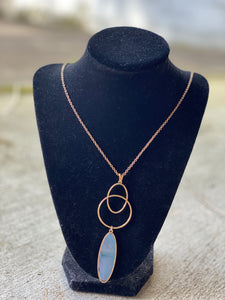 Double Circle and Oval Necklace