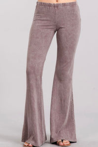 Mineral Wash Bell Bottom Pants