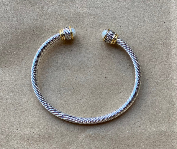 Cable Wire Cuff Bracelet