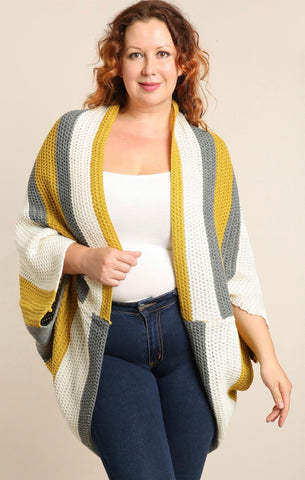 Mood Swings Poncho Cardigan