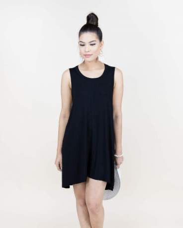 Center Hemmed Sleeveless Tunic - The Sock Dudes