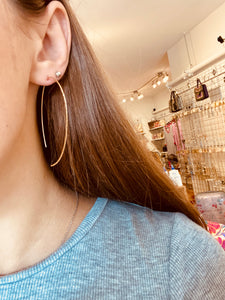 Textured Curved Earrings