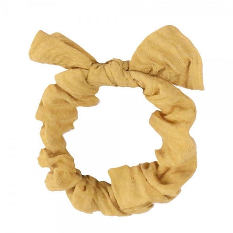 Wrinkled Knotted Bow Scrunchy - The Sock Dudes