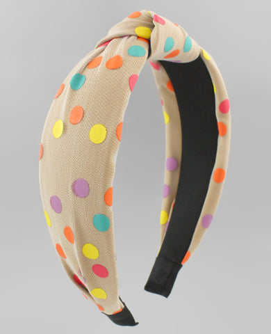 Color Dotted Headband