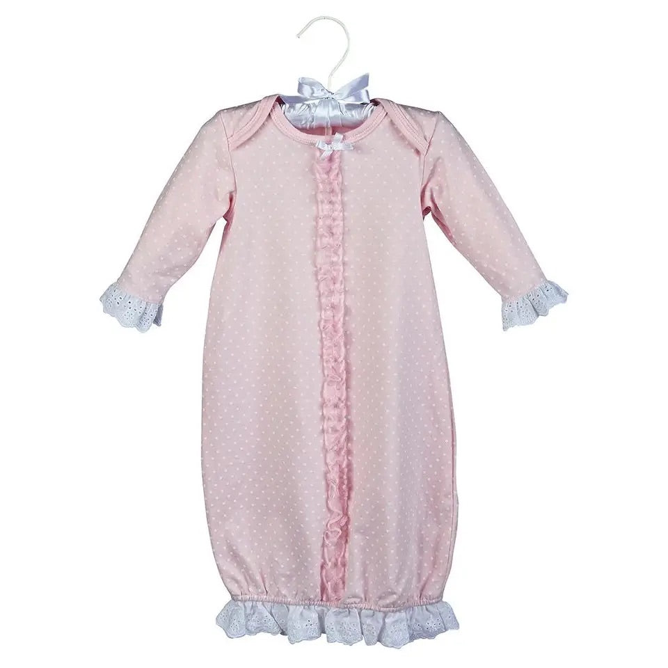 Maison Chic Pink Dot Sack Gown
