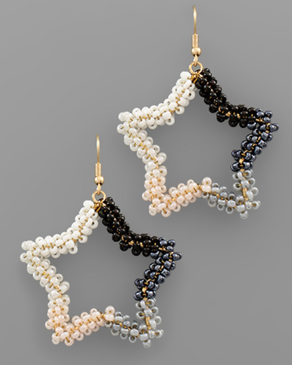 Seed Bead Star Earring - The Sock Dudes